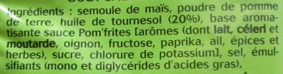 Fritelle Max, Goût Sauce Pom' Frites - Ingrediënten - fr