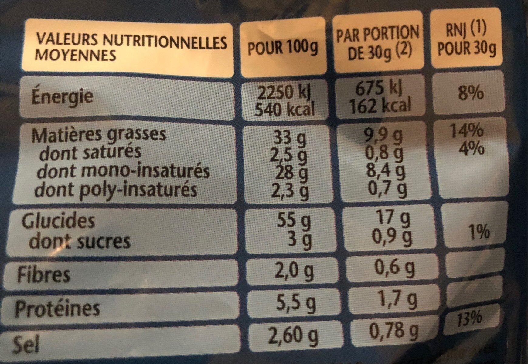 3D's Bugles goût Nature (format familial) - Valori nutrizionali - fr