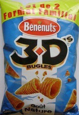 3D's Bugles, Goût Nature (Lot de 2 Format Familial) - Product - fr