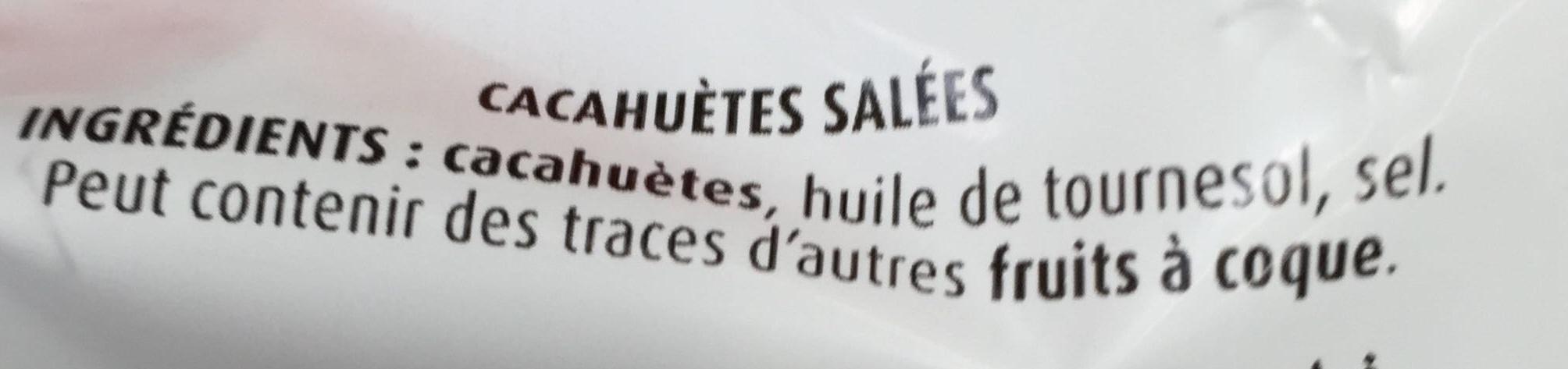 Cacahuètes délicatement salées extra croquantes - Ingredients - fr