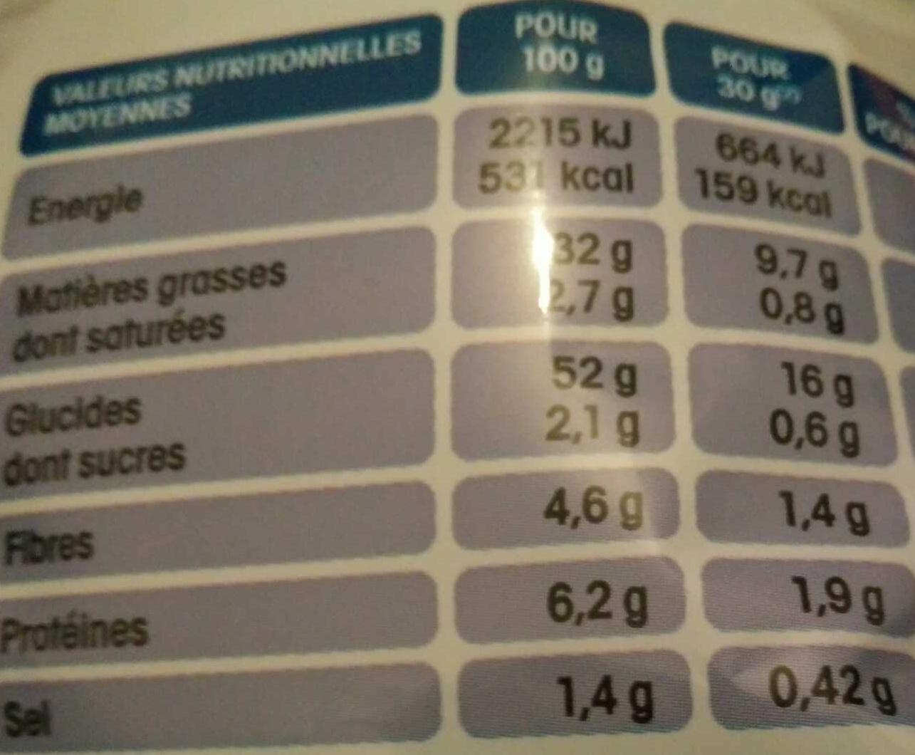 Chips Saveur Paprika - Voedingswaarden - fr
