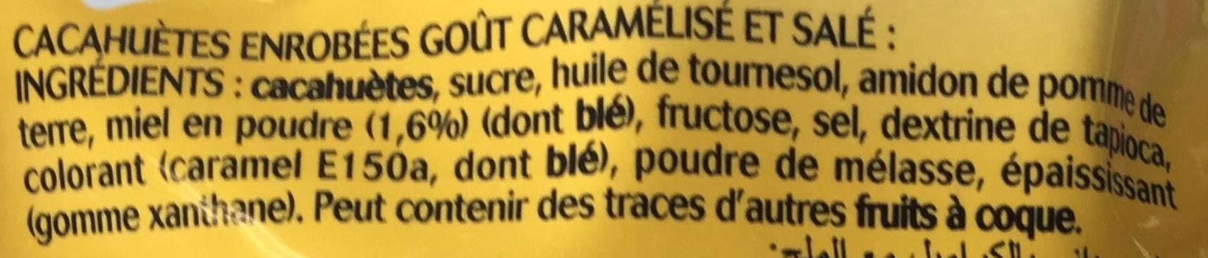 Lovely Nuts goût Caramel - Ingredients - fr