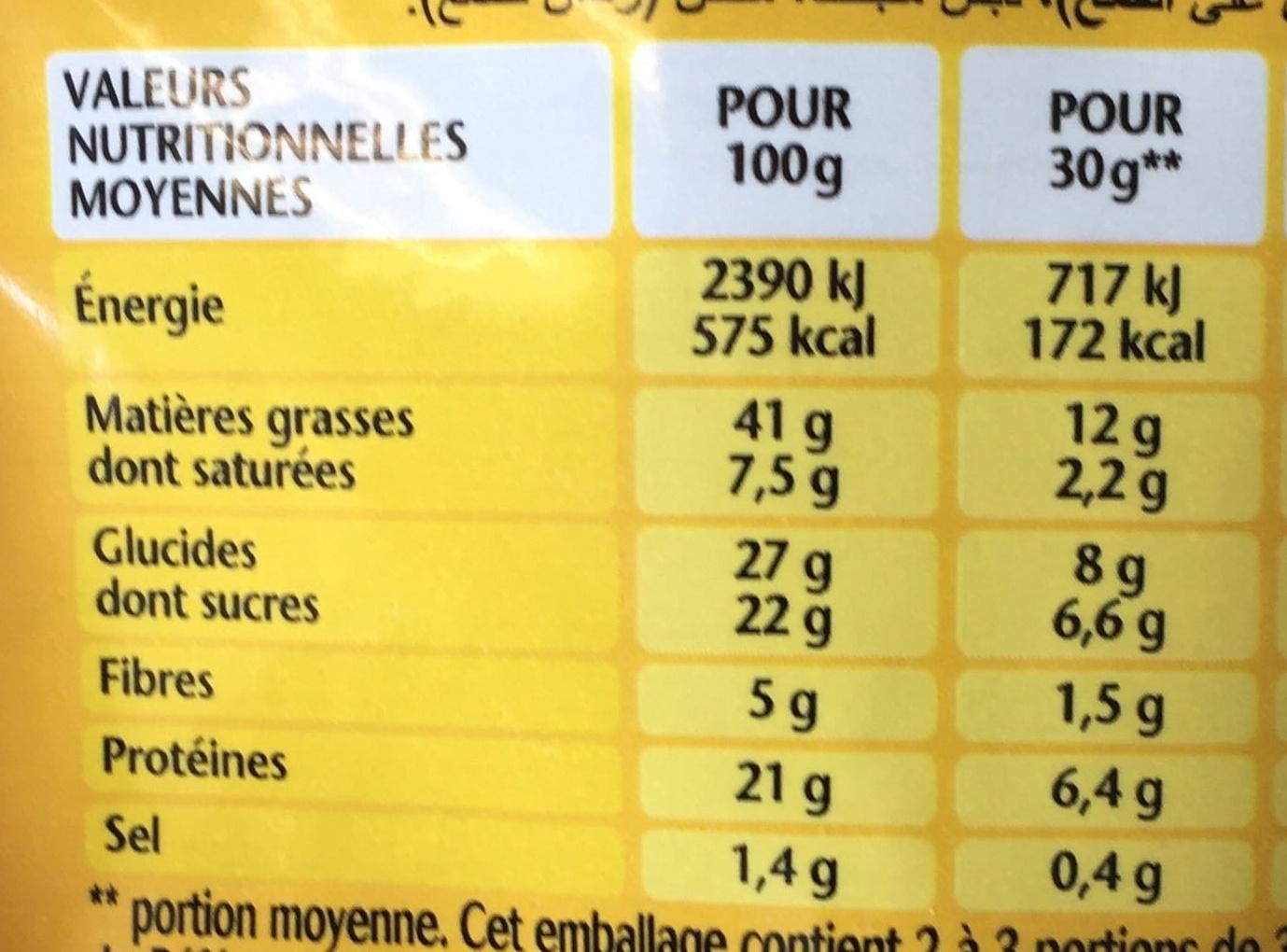 Lovely Nuts goût Caramel - Nutrition facts - fr