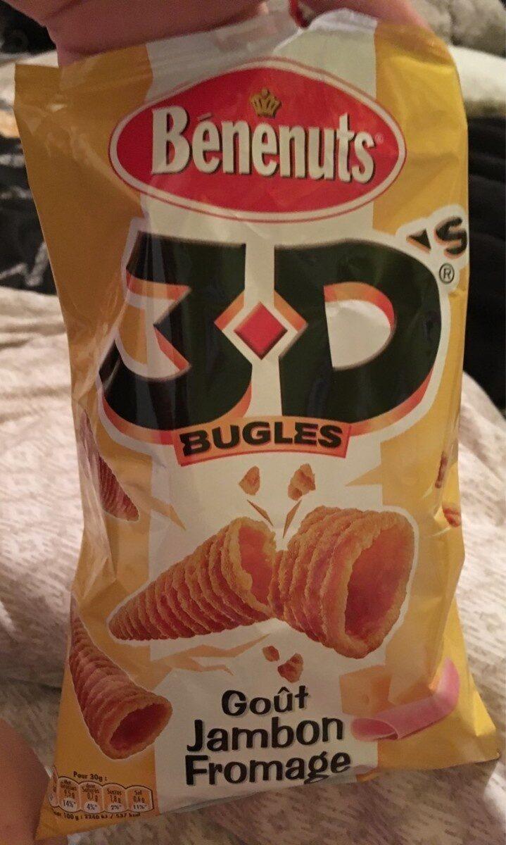 Bénénuts 3D's Bugles Goût jambon fromage - Produit - fr