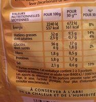 Bénénuts 3D's Bugles Goût jambon fromage - Informations nutritionnelles - fr