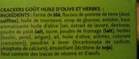 Cuits au four goût Huile d'olive et herbes - Ingrediënten