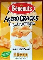 Apéros Cracks goût emmental cuits au four - Produit