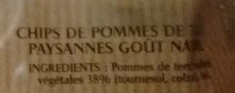 Chips Paysannes - Ingredients - fr