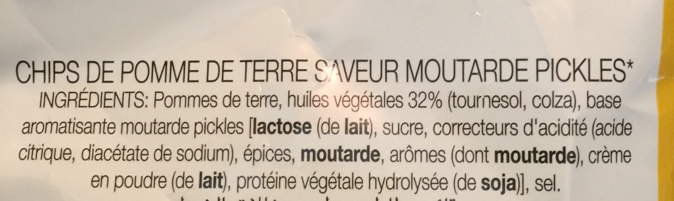 Saveur Moutarde Pickles - Ingrédients