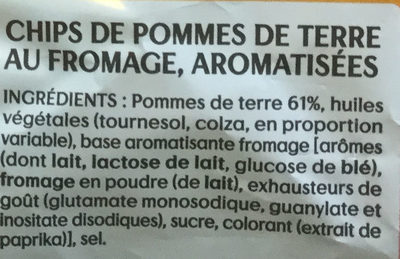 Saveur Fromage - Ingredients