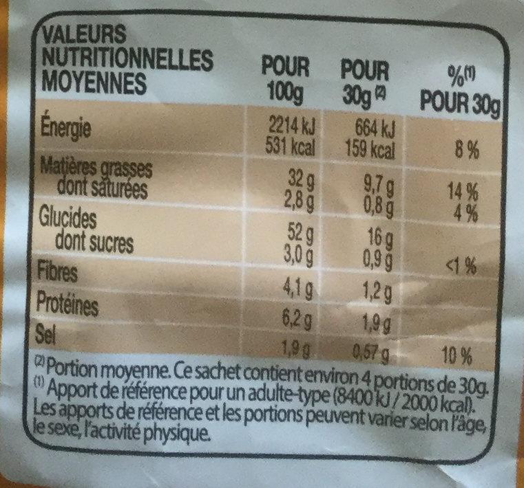 Lay's saveur fromage - Voedingswaarden - fr