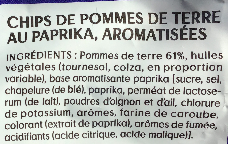 Lay's Saveur Paprika - Ingrédients - fr