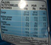Lay's saveur ketchup - Voedingswaarden - fr