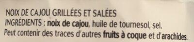 Noix de Cajou grillées et salées - Ingrediënten