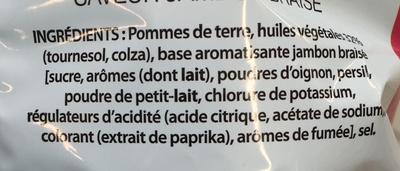 Chips saveur Jambon Braisé - Ingrédients - fr