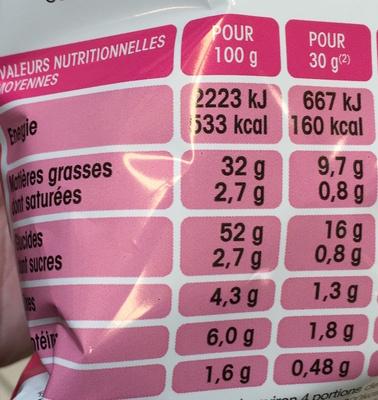 Chips saveur Jambon Braisé - Informations nutritionnelles - fr