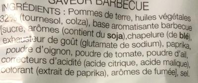 Chips saveur Barbecue - Ingrediënten - fr