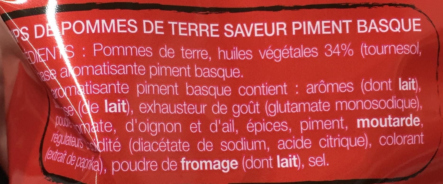 Saveur Piment Basque - Ingrédients - fr