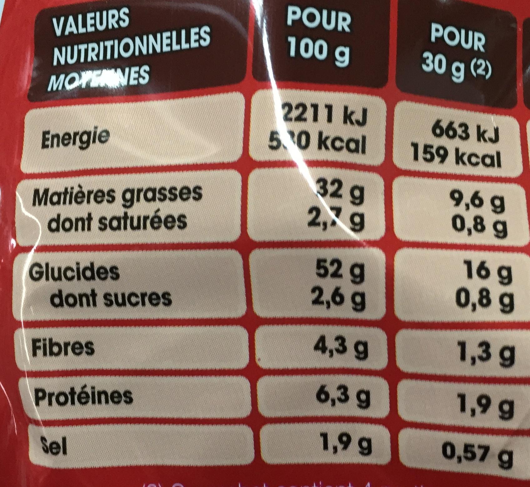 Saveur Piment Basque - Informations nutritionnelles - fr