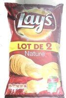 Lay's nature lot de 2 x 150 g - Produit - fr