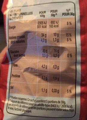 Lay's nature lot de 2 x 150 g - Informations nutritionnelles - fr