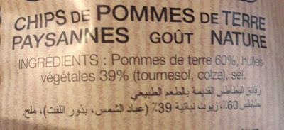 Chips paysannes - Ingredients