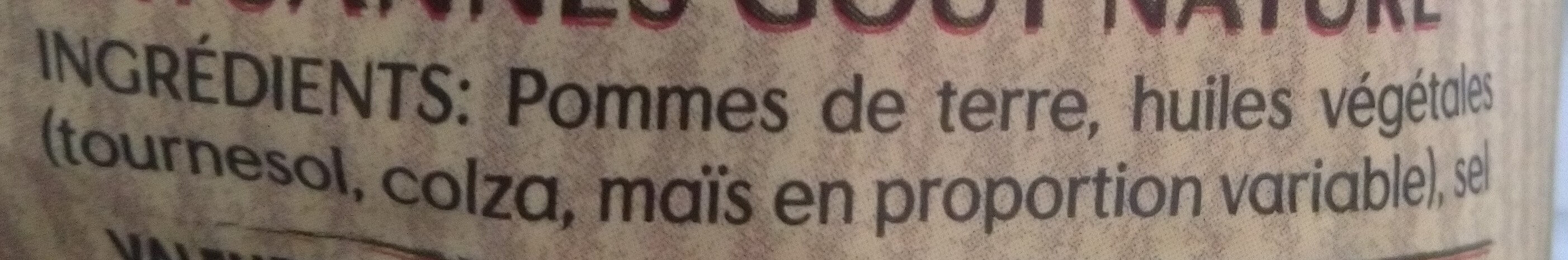 Chips paysannes - Ingrédients - fr