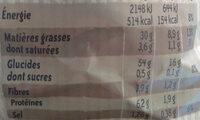 Chips paysannes - Informations nutritionnelles - fr