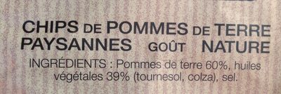 Chips lay's paysannes nature 2x150g - Ingredients - fr