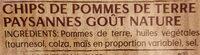Lay's Chips paysannes nature format familial - Ingrédients - fr
