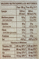quater oats - Nutrition facts - fr