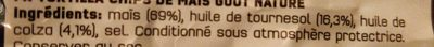 Doritos Goût Nature - Ingrediënten