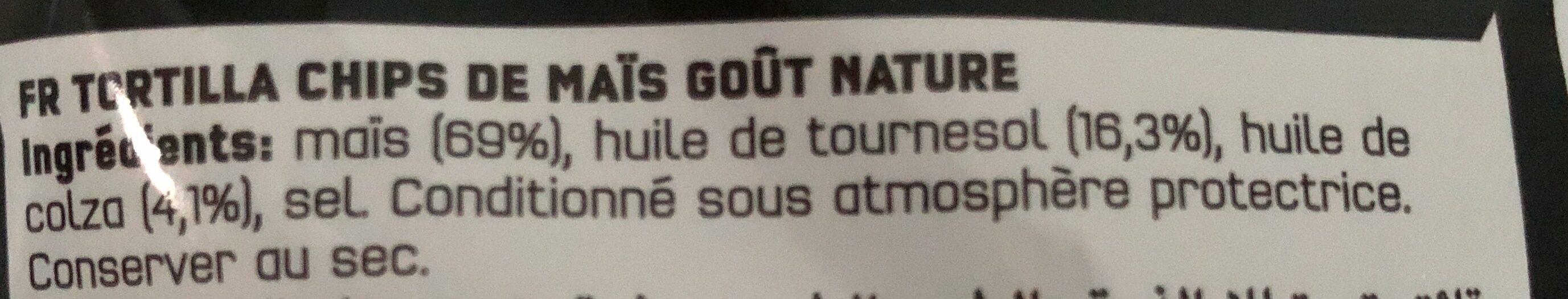 Doritos goût nature - Ingrediënten - fr