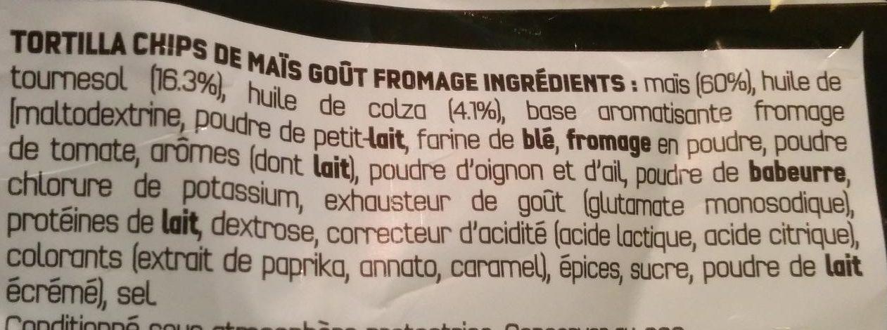 Doritos goût nacho cheese - Ingrédients - fr