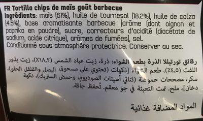 Doritos goût barbecue style - Ingrédients - fr