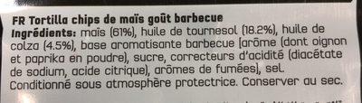 Doritos goût barbecue style 170 g + 10% offert - Ingrédients - fr