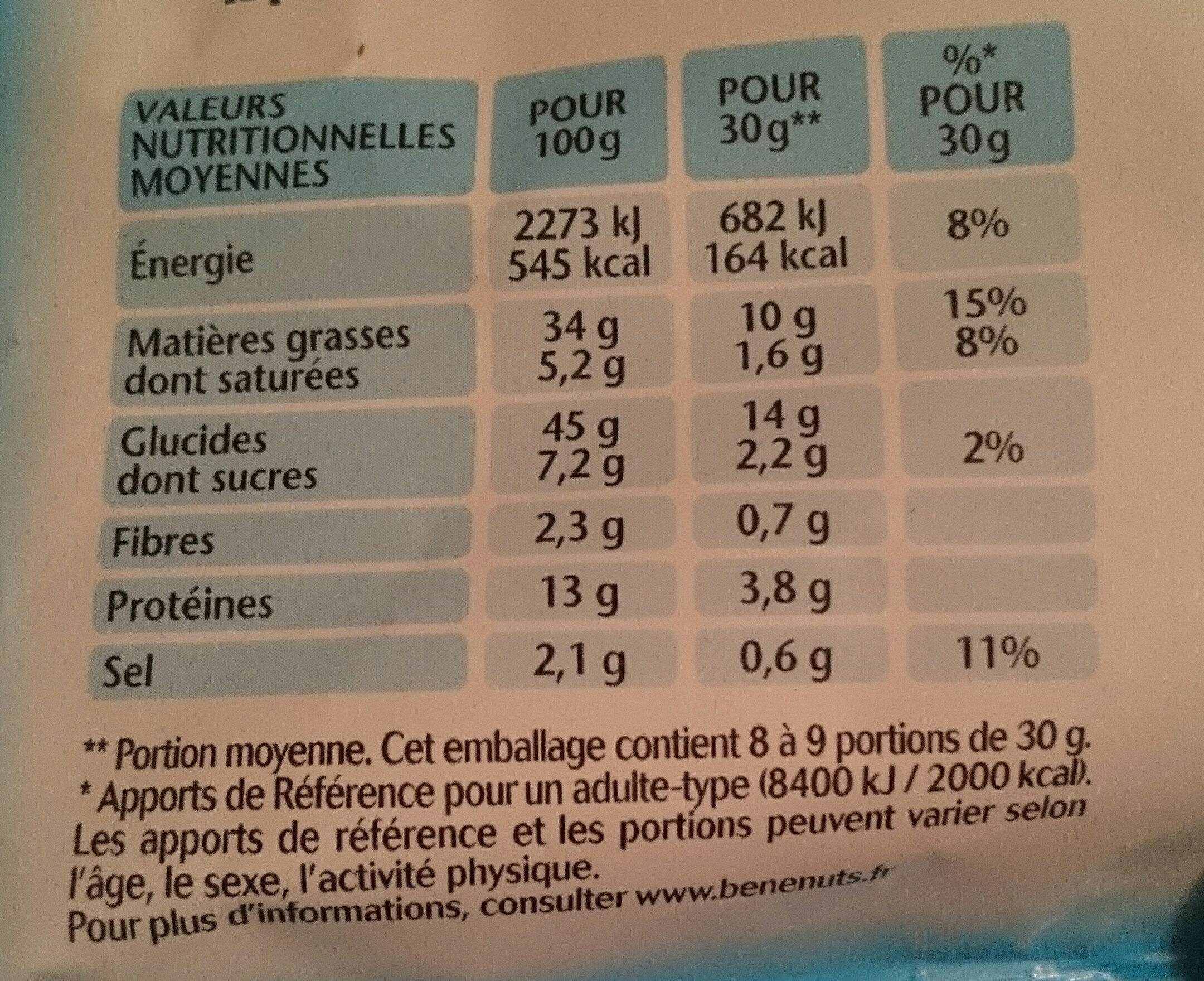 Twinuts - Nutrition facts - fr
