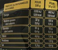 Deep Ridged saveur Nature (+10% gratuit) - Informations nutritionnelles