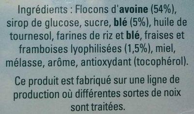 Golden Crisp Fraises & Framboises - Ingredients - fr