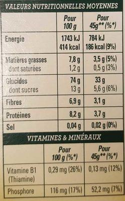 Golden Crisp Fraises & Framboises - Nutrition facts - fr