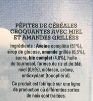 Golden Crisp - Pépites Croquantes - Miel et amandes - Ingrédients - fr