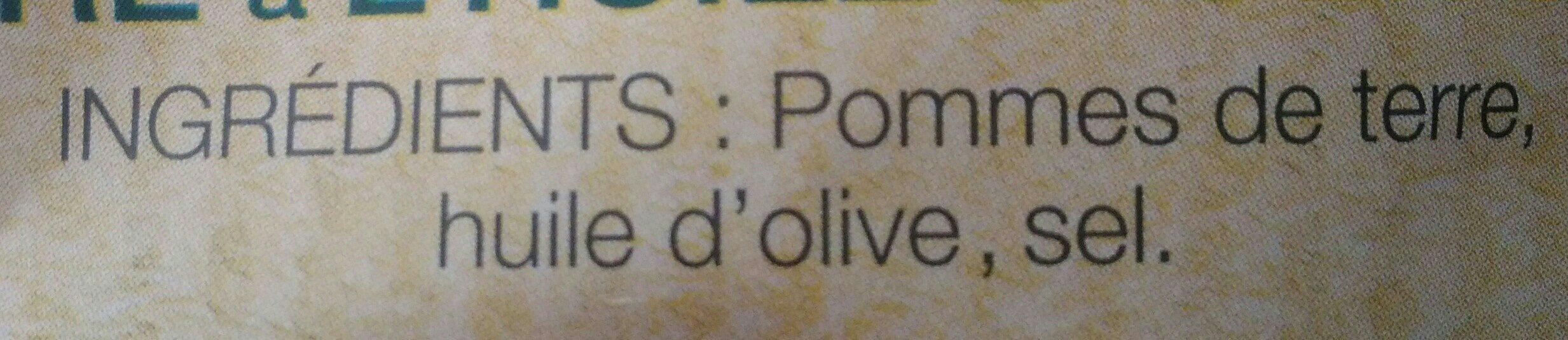 Lay's Méditerranéenne 100% huile d'olive nature format familial - Ingrédients - fr