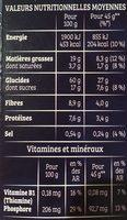 Cruesli - Goût Cookies & Cream - Informations nutritionnelles - fr