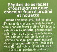 Cruesli Chocolat Noisette - Ingrédients
