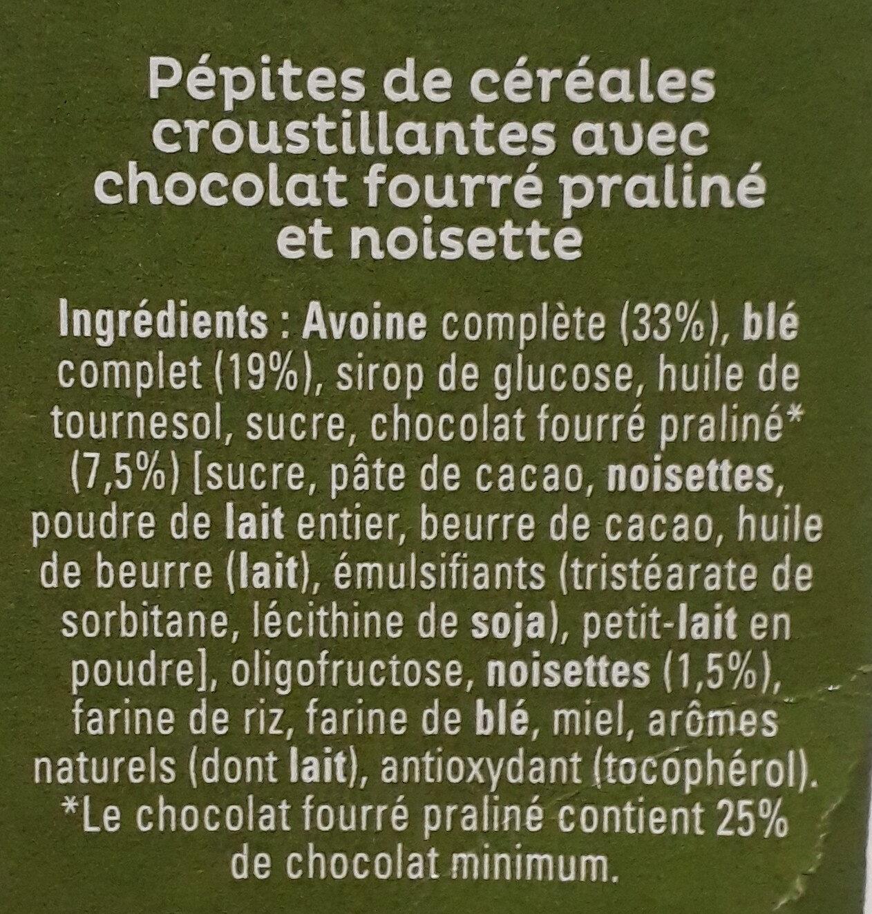 Cruesli Chocolat Noisette - Ingredienti - fr