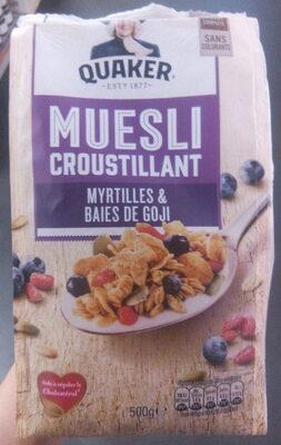 Muesli Croustillant Myrtilles & Baies de Goji - Product