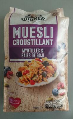 Quaker Muesli Croustillant Myrtilles & baies de goji - Product - fr