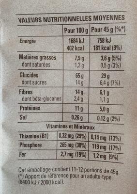Quaker Muesli Croustillant Myrtilles & baies de goji - Voedingswaarden - fr