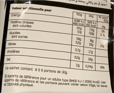Doritos sweet chilli pepper party size - Informations nutritionnelles - fr