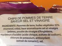 Saveur Sel & Vinaigre (lot de 2) - Ingrédients